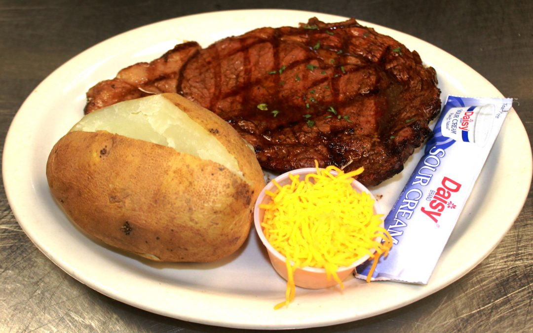 10oz Texas Ribeye Land And Sea Restaurant
